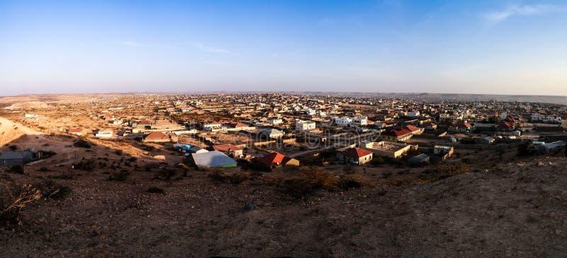 Vue aérienne vers Hargeisa, la plus grande ville de Somaliland Somalie image stock