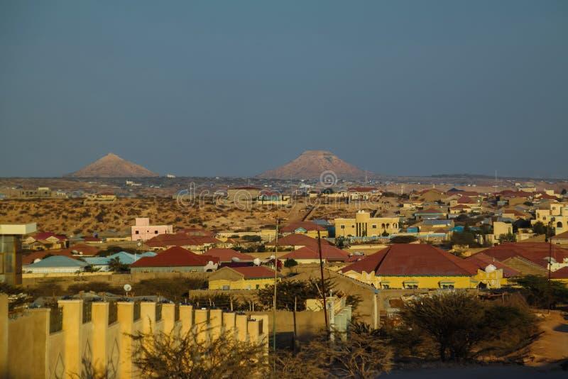 Vue aérienne vers Hargeisa, la plus grande ville de Somaliland Somalie photos stock