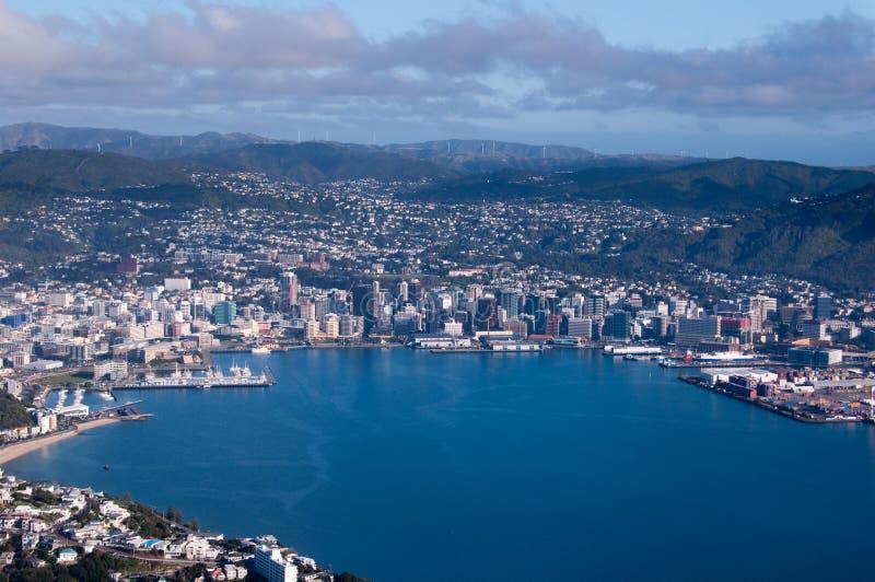 vue aérienne Wellington de ville photo libre de droits