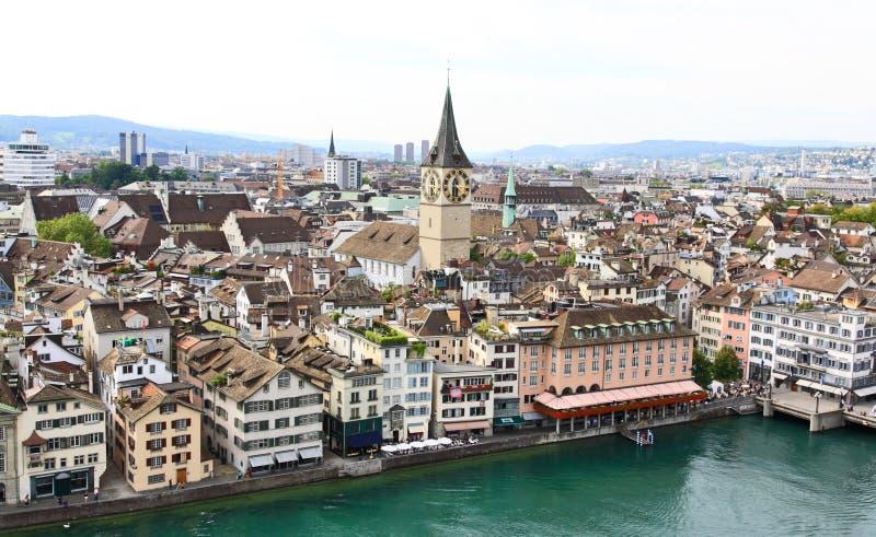 vue aérienne Zurich de paysage urbain images libres de droits