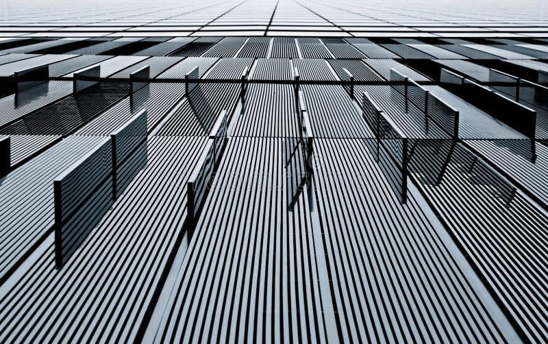 Vue abstraite d'une construction en métal image stock