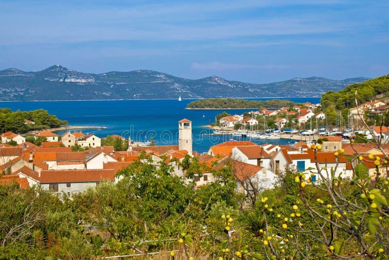 Vue Adriatique D île De Veli Iz Photographie stock