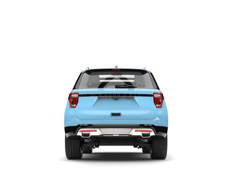 Vue arrière automobile bleu-clair moderne de SUV illustration de vecteur