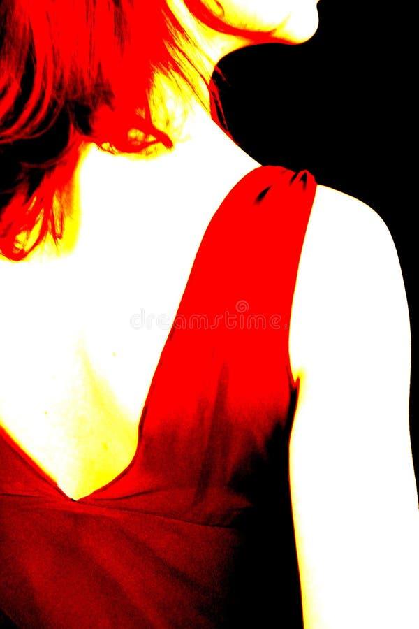 Vue arrière d'abstrait de femelle image libre de droits