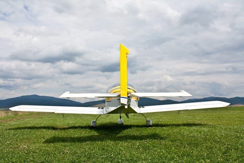 Vue arrière d'avion photographie stock