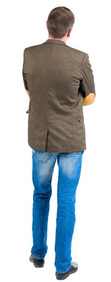 Vue arrière d'homme d'affaires dans la veste.  penser à l'avenir de vous-même photographie stock libre de droits