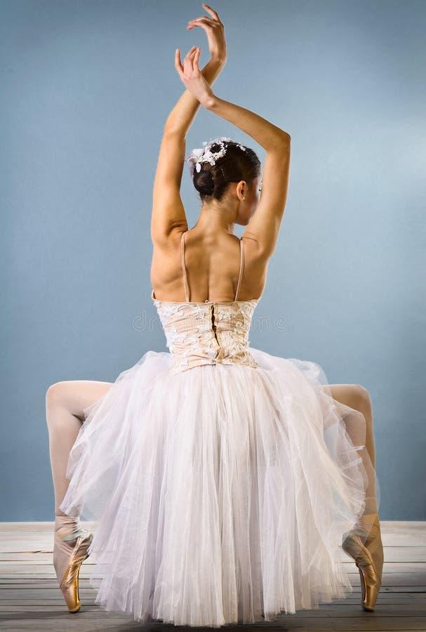 Vue arrière de ballerine gracieuse images libres de droits