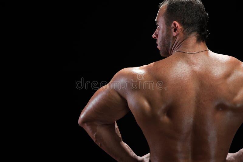 Jeune Homme Beau Sexy Se Tenant Sans Chemise Contre Photo
