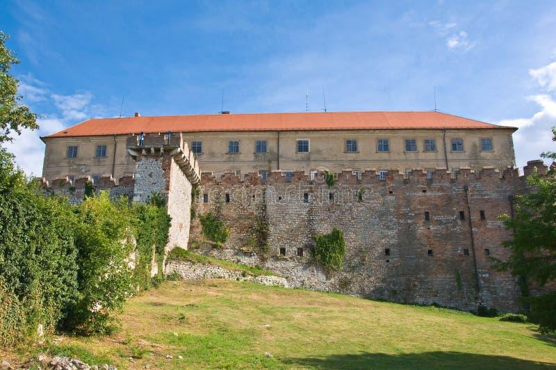 Vue arrière de château de Siklos, photos libres de droits