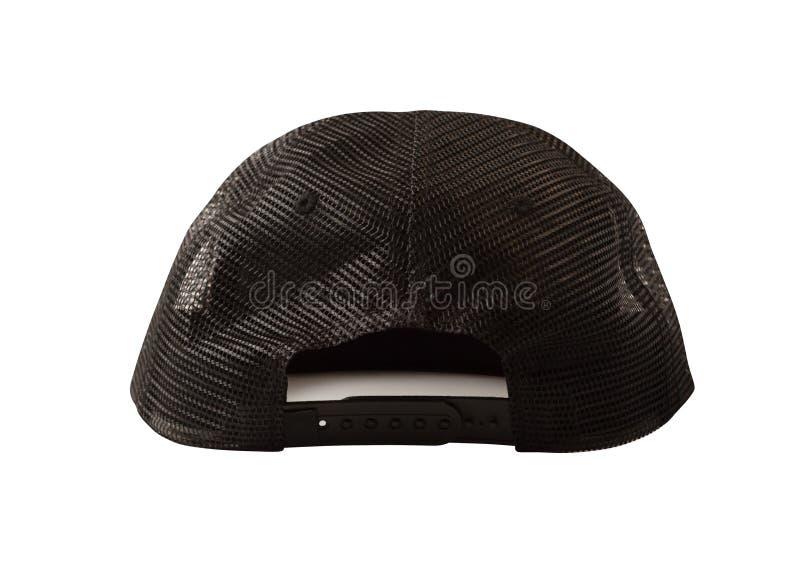 Vue arrière de chapeau de camionneur de maille photographie stock libre de droits