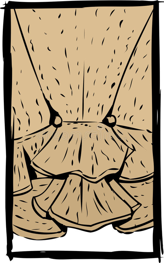 Vue arrière de corsage de Brown illustration libre de droits