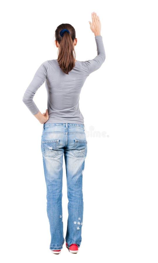 Vue arrière de femme photos libres de droits