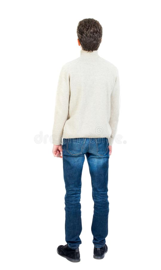 Vue arrière de l'homme Jeune type debout photos stock