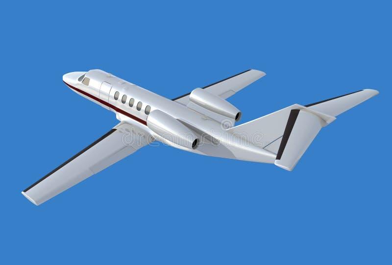 Vue arrière de la citation cj4 de Cessna illustration stock