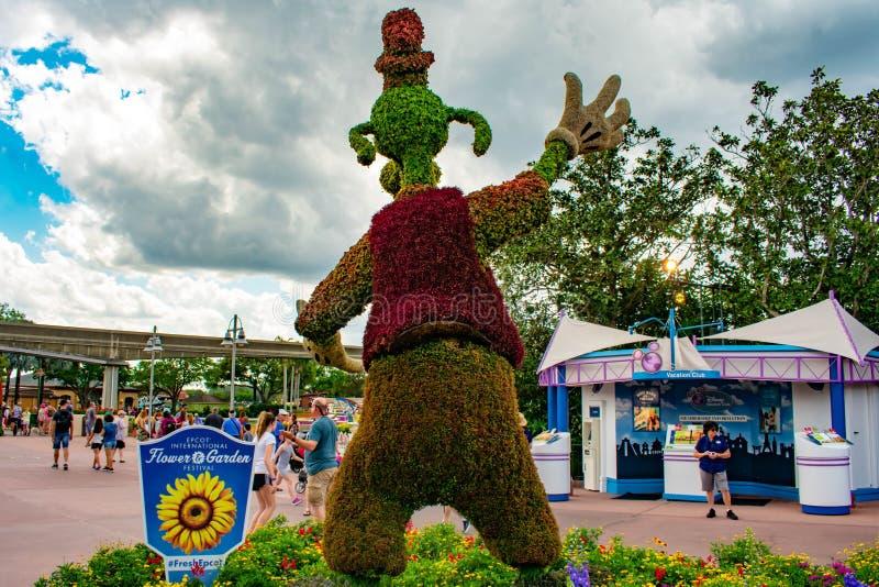 Vue arri?re de topiarie maladroit chez Epcot en Walt Disney World photographie stock libre de droits