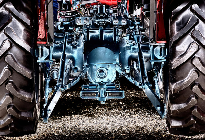 Vue arrière de tracteur photo libre de droits