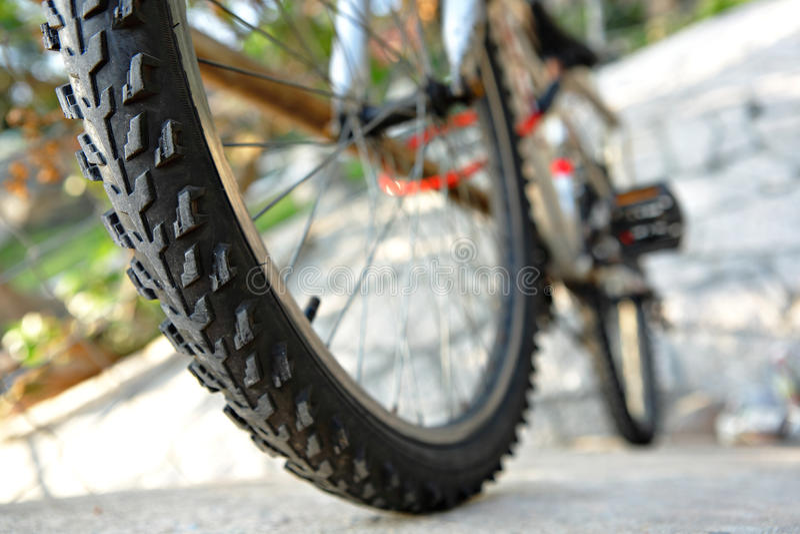 Vue arrière de vélo photo libre de droits