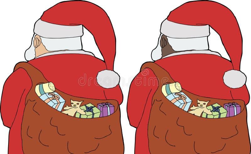 Vue arrière Santa Claus illustration stock
