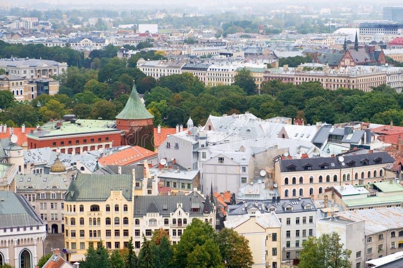 Vue au centre de Riga image stock