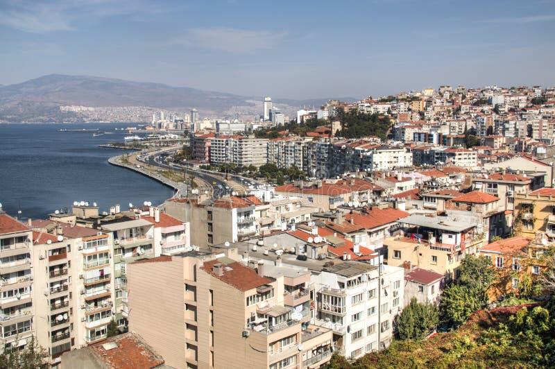 Vue au-dessus d'Izmir en Turquie images stock