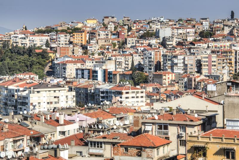 Vue au-dessus d'Izmir en Turquie photographie stock