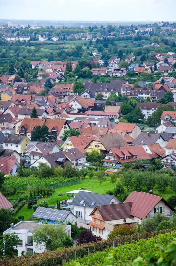 Vue au-dessus d'Offenburg, Allemagne image libre de droits