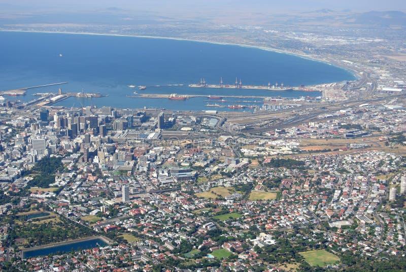 Vue au-dessus de Cape Town image libre de droits
