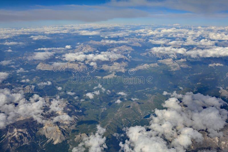 Vue au-dessus de l'Autriche photo stock