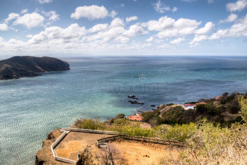 Vue au-dessus de la baie de San Juan del Sur, Nicaragua image stock