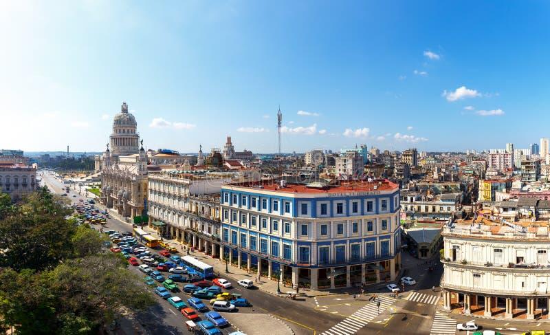 Vue au-dessus de La Havane photographie stock