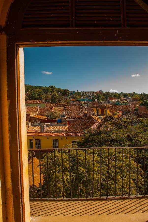 Vue au-dessus de la ville Trinidad sur le Cuba photos libres de droits