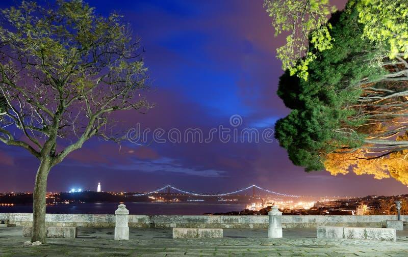 Vue au-dessus de Lisbonne de castelo de sao Jorge photos stock