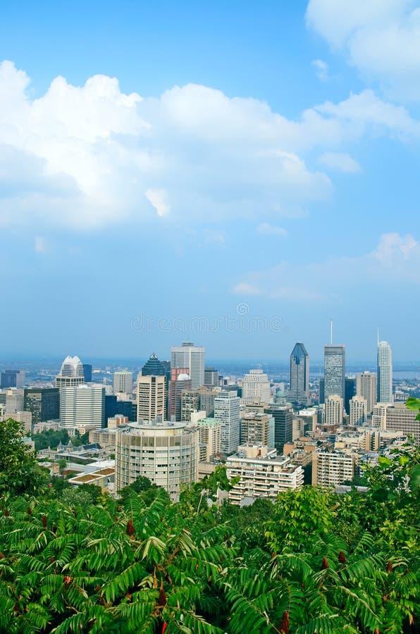 Vue au-dessus de Montréal du centre images stock
