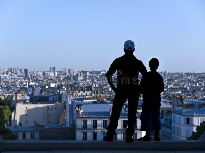 Vue au-dessus de Paris image libre de droits