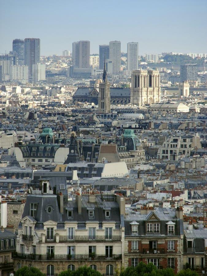 Vue au-dessus de Paris images libres de droits