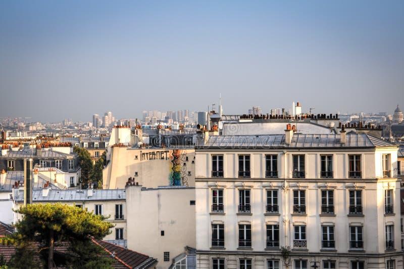 Vue au-dessus de Paris de montmartre images libres de droits