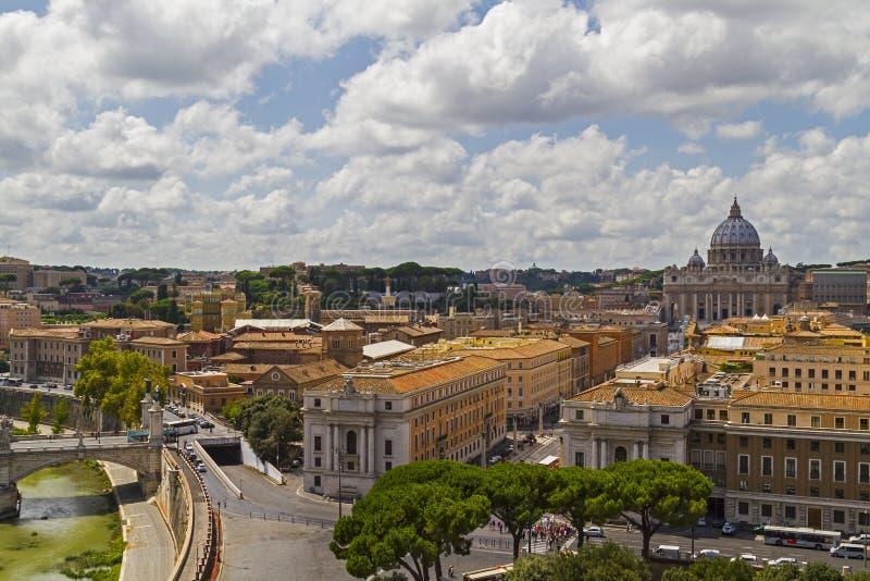 Vue au-dessus de Rome, Italie photo stock