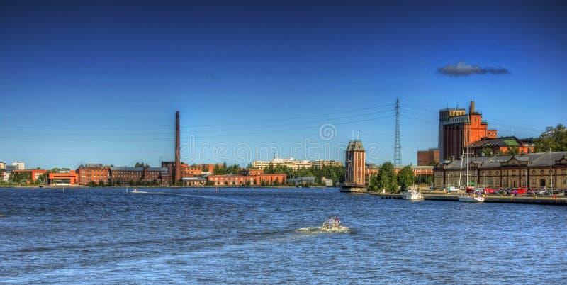 Vue au-dessus de ville de Vaasa images libres de droits