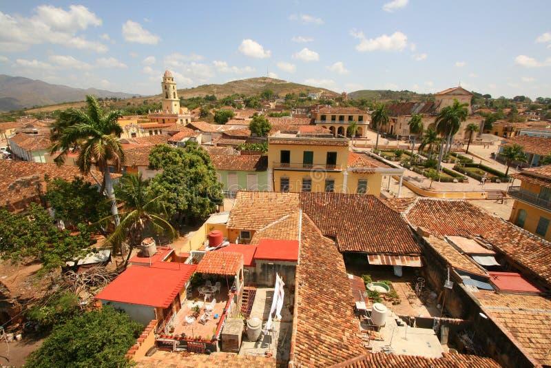 Vue au-dessus de ville du Trinidad image libre de droits