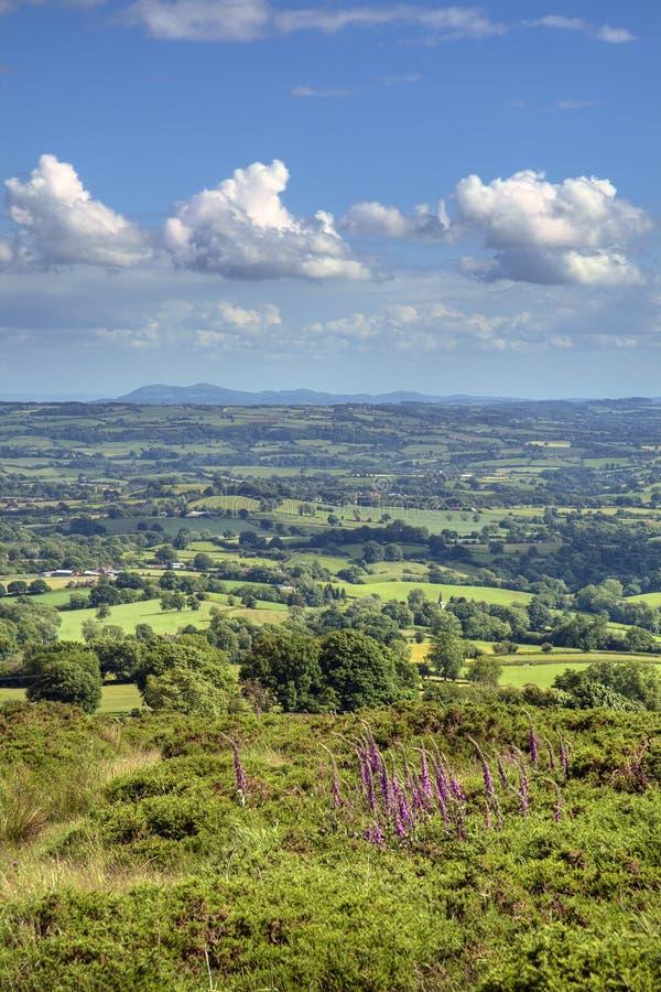 Vue au-dessus de Worcestershire image libre de droits