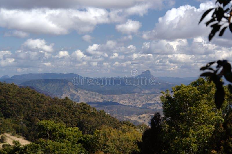 Vue au-dessus du circuit occidental de crique de Canungra photos stock
