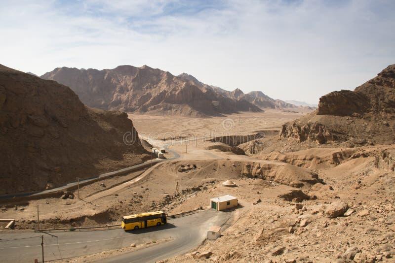 Vue au-dessus du désert de Bafgh de Chak Chak, Iran photographie stock