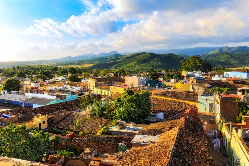 Vue au-dessus du Trinidad, Cuba images stock
