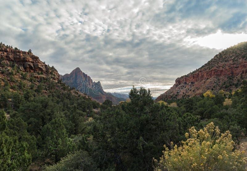 Vue au gardien, Zion National Park photographie stock