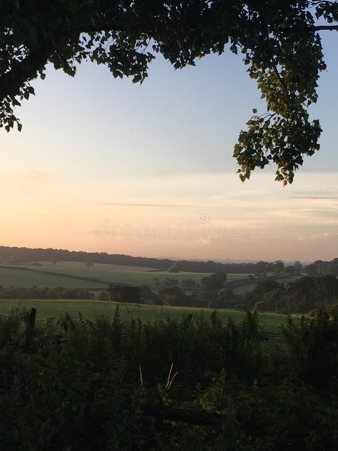 Vue au lever de soleil photo libre de droits