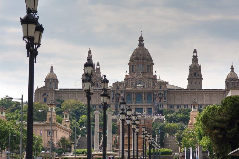 Vue au Musée National catalan sur Montjuic photographie stock