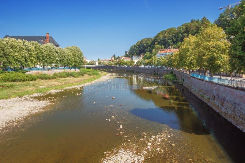 Vue au nord du pont de Clemenceau images stock