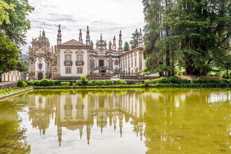 Vue au palais de Mateus près de Vila Real au Portugal images libres de droits