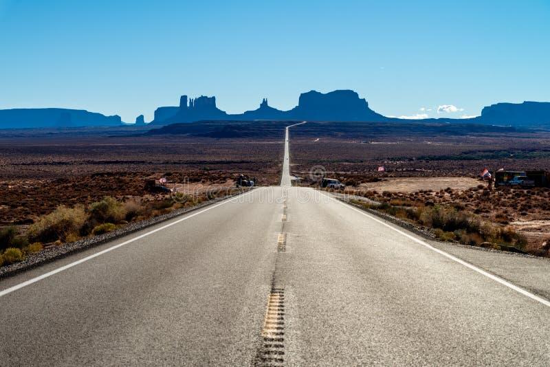 Vue au parc national de vall?e de monument, Arizona, Etats-Unis images libres de droits