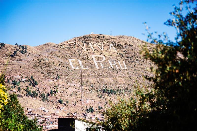 Vue aux collines près du Cusco photo stock